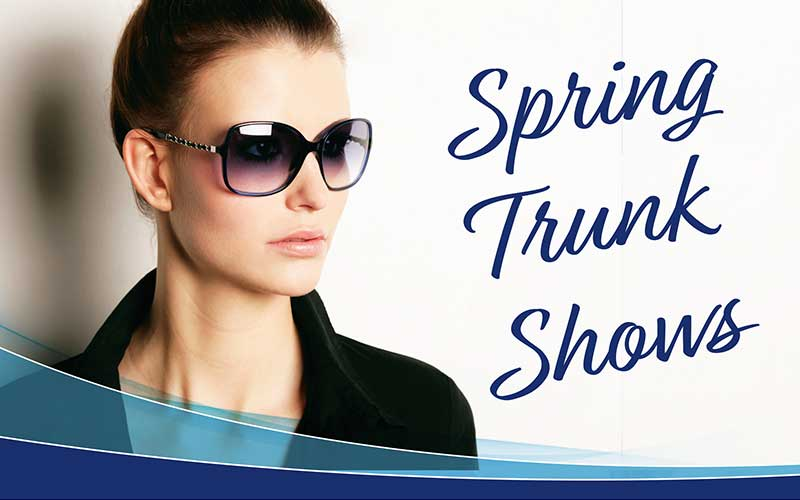 spring trunk shows woman with glasses